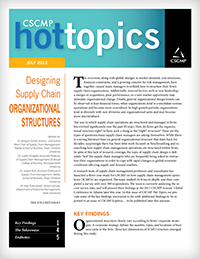 Designing Supply Chain Organizational Structures