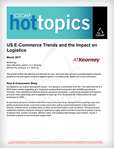 US E-Commerce Trends and the Impact on Logistics