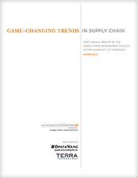 2013 Game Changing Trends in Supply Chain