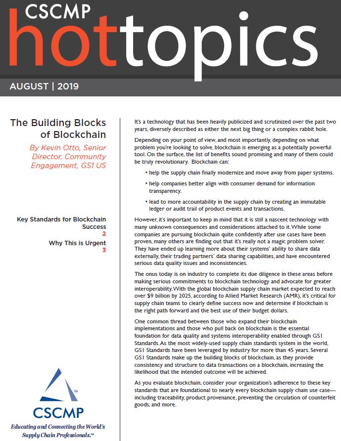 The Building Blocks of Blockchain